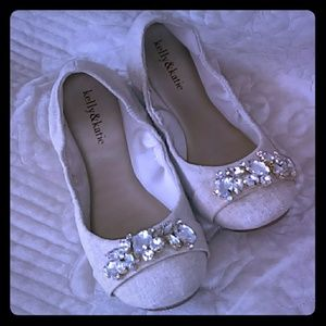 Kelly and Katie size 7 blinged out flats